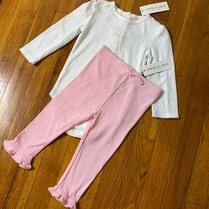 NWT Janie And Jack Cat Face Bodysuit and Pants
